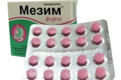 Прием Мезима для улучшения процесса пищеварения