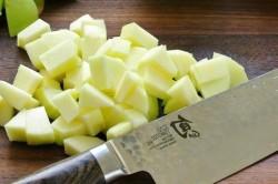 Употребление очищенных яблок